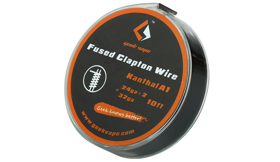 clapton fused wire geek vape - 10ft Geekvape Kanthal A1 Fused Clapton Wire 24ga*2+32ga