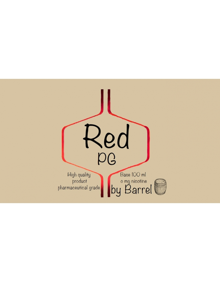 barrel base 100ml red pg - BARREL BASE 100ML RED PG