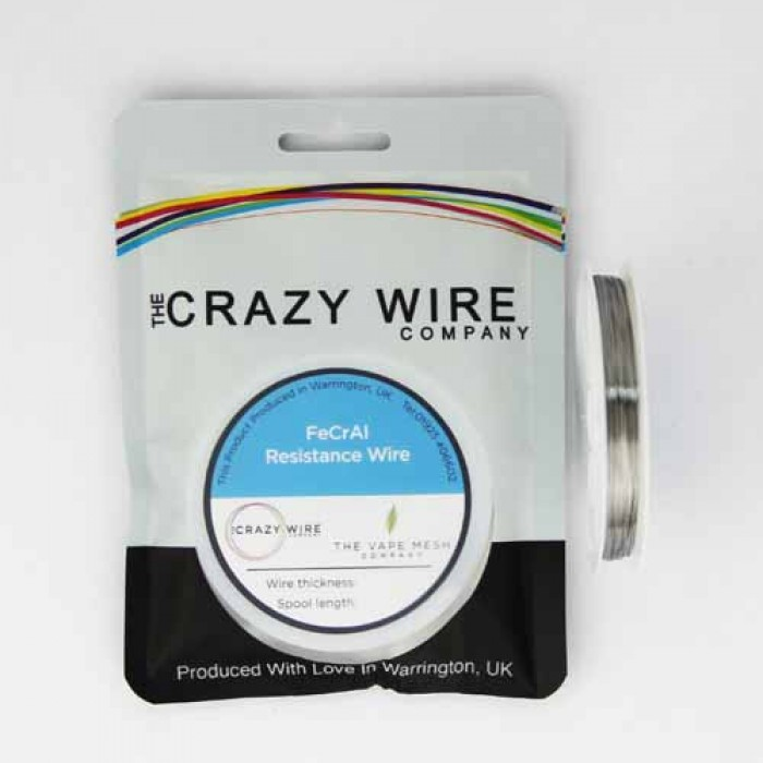 crazy wire kanthal A1 030mm 10m 700x700 - Crazy Wire Kanthal A1 10m 50mm awg24