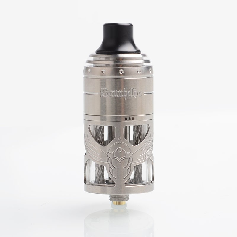 authentic vapefly german 103 brunhilde mtl rta rebuildable tank atomizer silver stainless steel 5ml 23mm diameter - Brunhilde MTL RTA – Vapefly